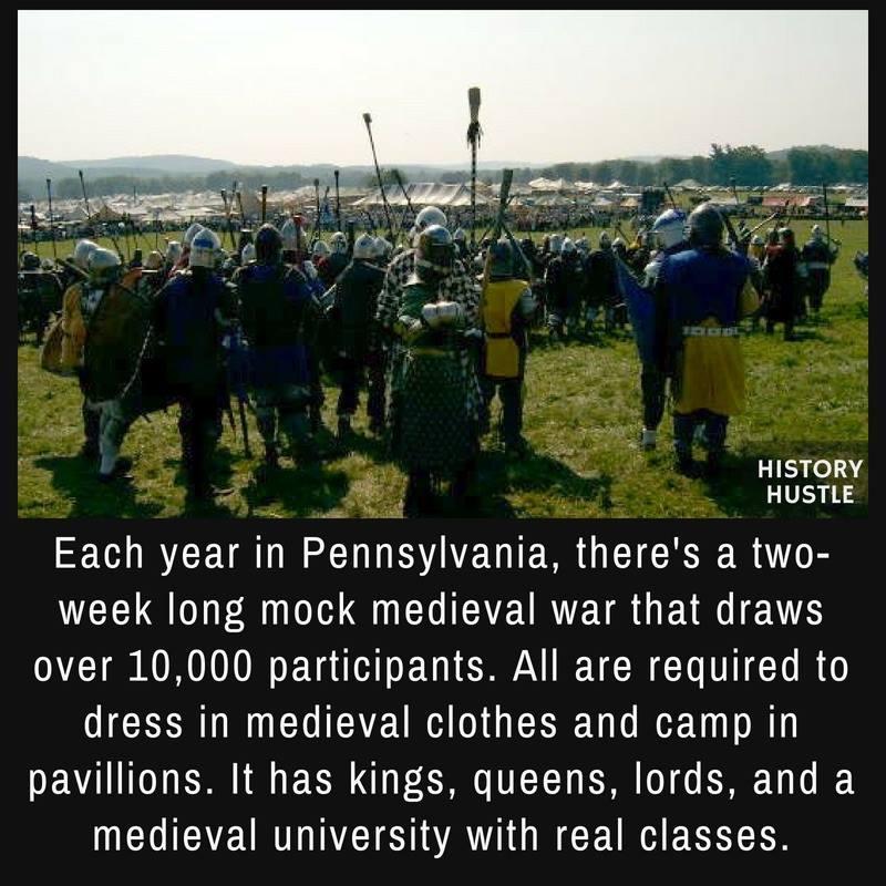 Medieval festival fact History Hustle