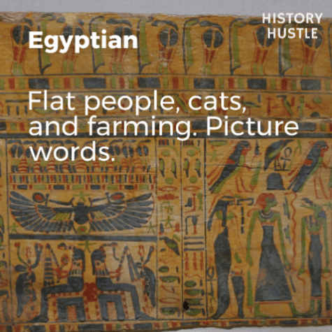 Art History in 90 Seconds History Hustle Egyptian image
