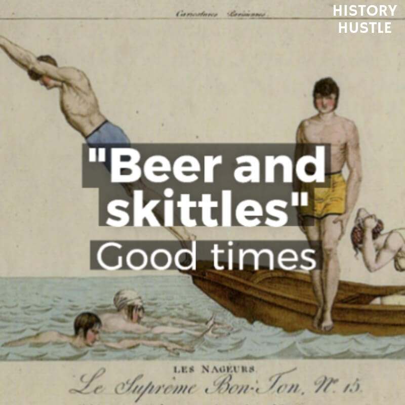 History Hustle Victorian Slang beer and skittles image