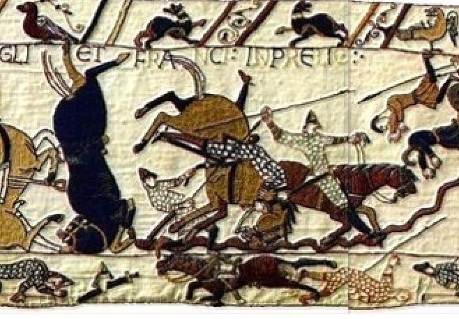 History Hustle Bayeux Tapestry scene image