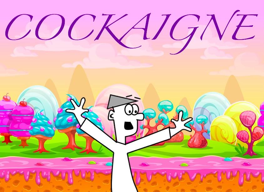 Cockaigne history hustle cartoon happy image