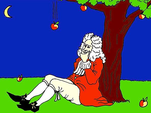 Isaac Newton apple tree history hustle image