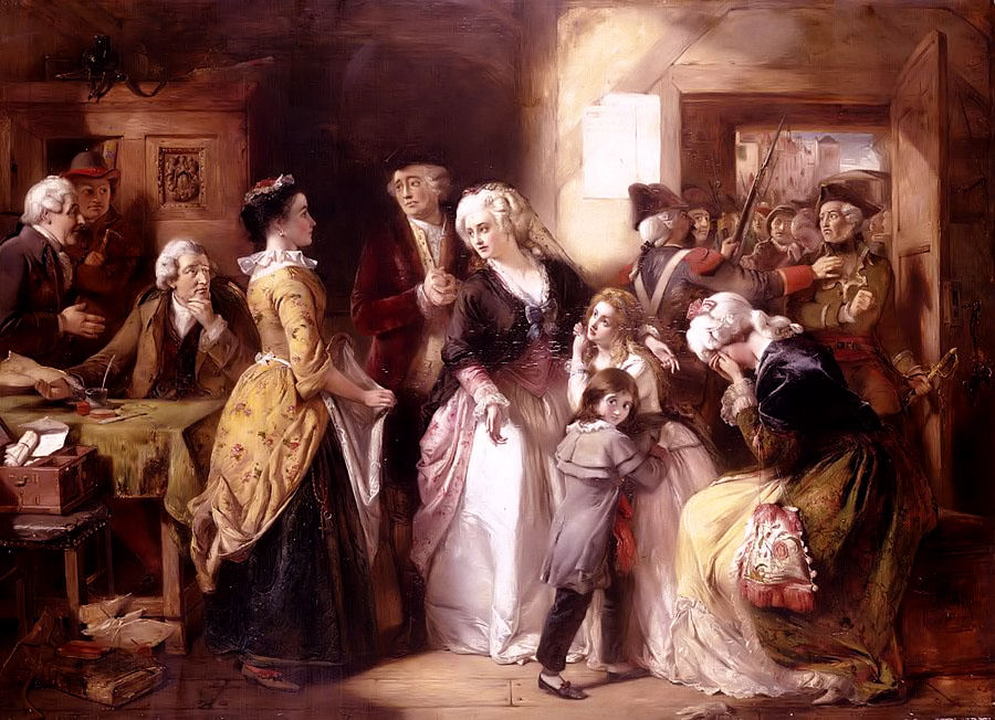 The arrest of Louis XVI and his family.