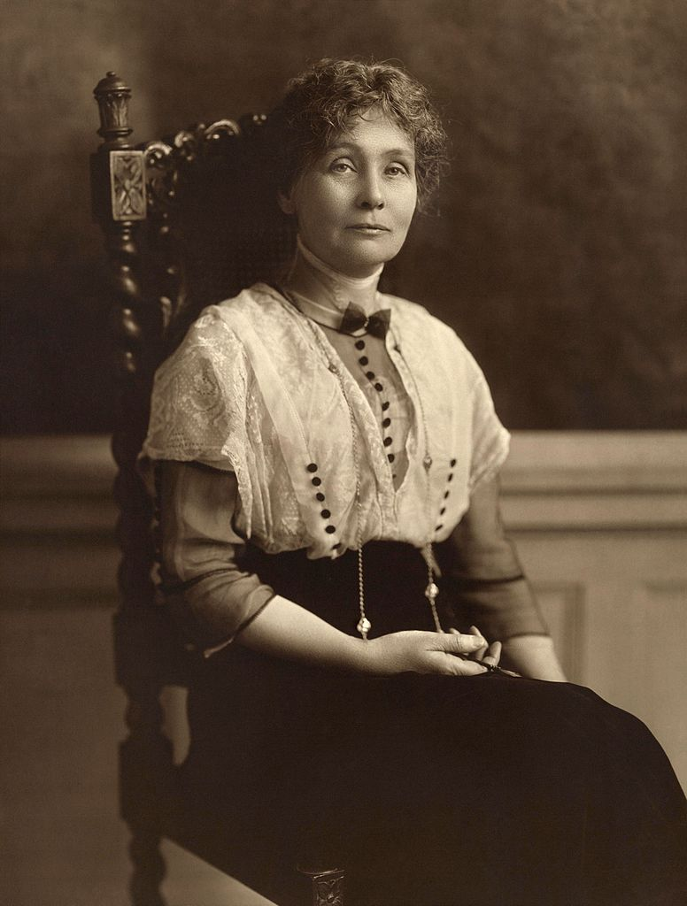 portrait of Emmeline Pankhurst, one of the famous suffragists of her time