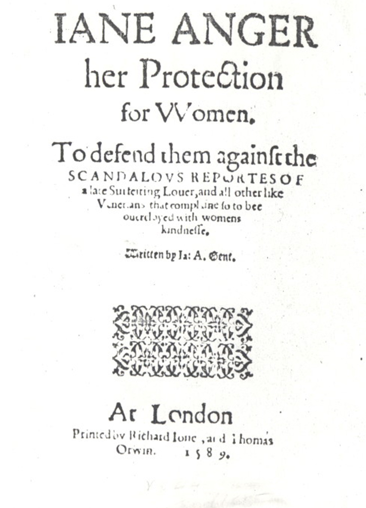 image of Jane Anger's Her Protection of Women book