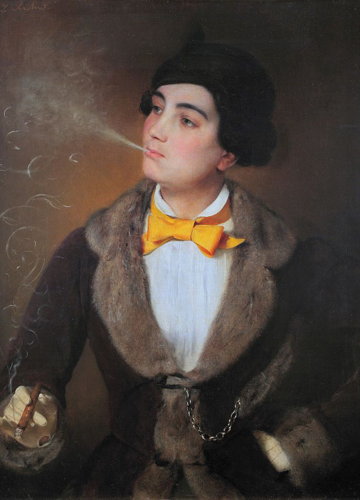 portrait of Louise Aston, by Johann Baptist Reiter, one of the radical feminists of her time