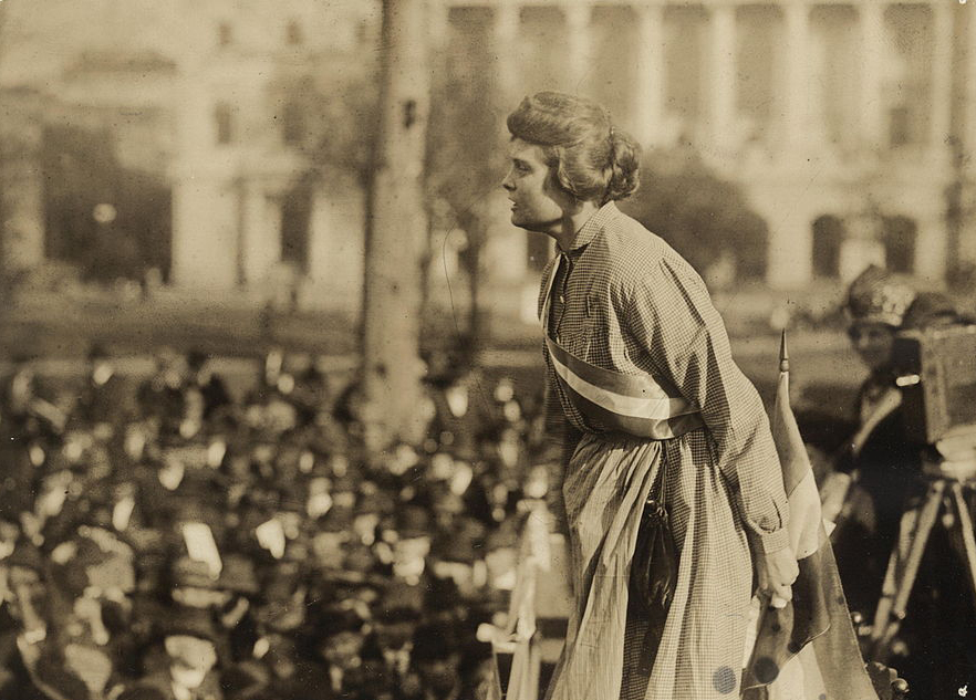 Lucy Branham in Occoquan prison dress, she is one of the well-known suffragists of her time