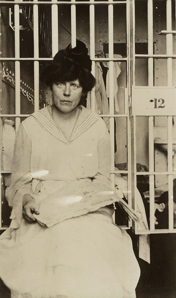 Lucy Burns in Occoquan Workhouse, one of the well-known suffragists of her time
