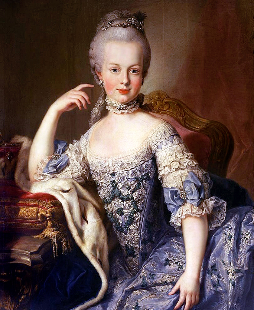 The young Marie Antoinette.
