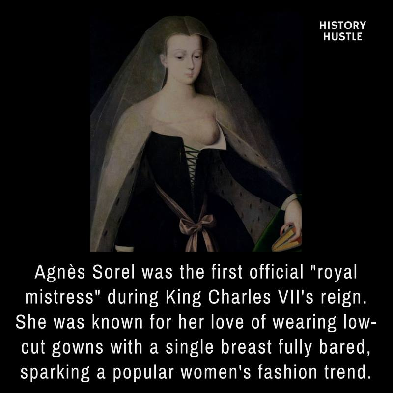 Portrait of Agnes Sorel, the favorite and the chief mistress of King Charles VII of France