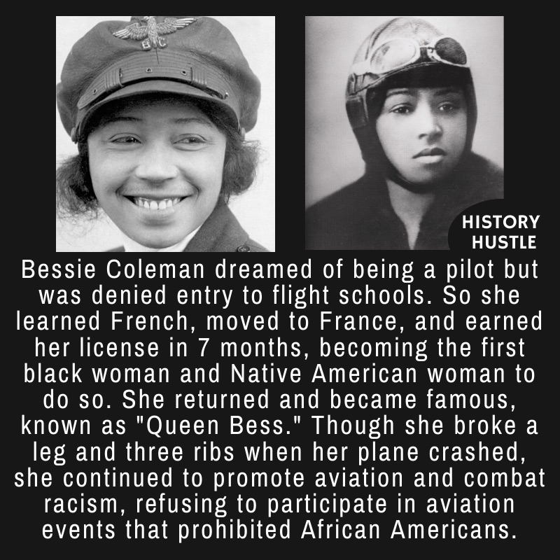 A couple of photos of Bessie Coleman, National Aviation Hall of Fame inductee