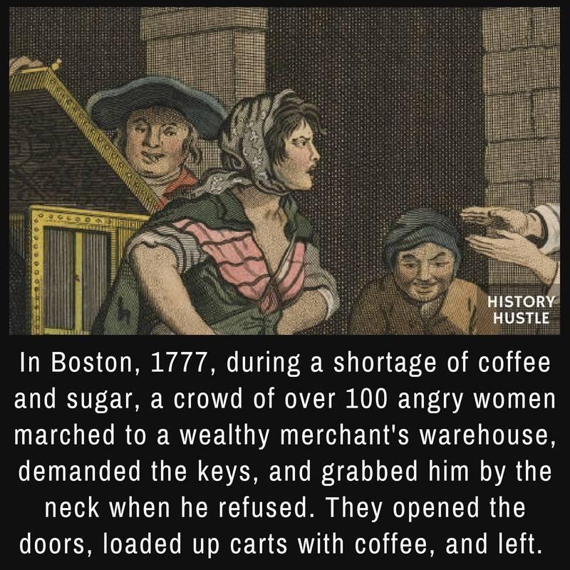 portrait of Boston coffee shortage of 1977