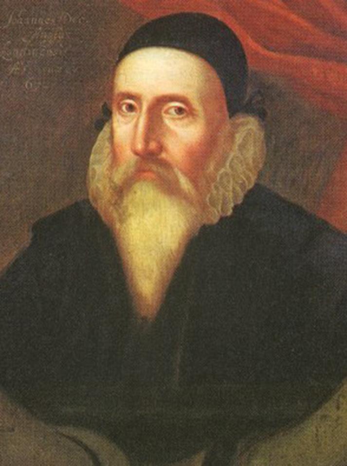 portrait of John Dee, an English mathematician, alchemist, astrologer, astronomer, navigator, and geographer.