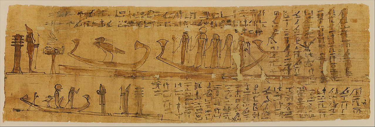 image of the Papyrus, Book of the Dead, one of the mysterious manuscripts
