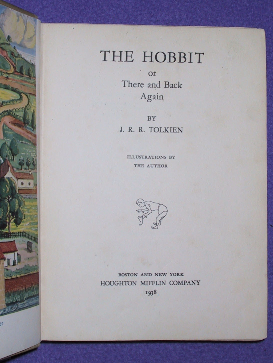Title page of the first American edition of The Hobbit.