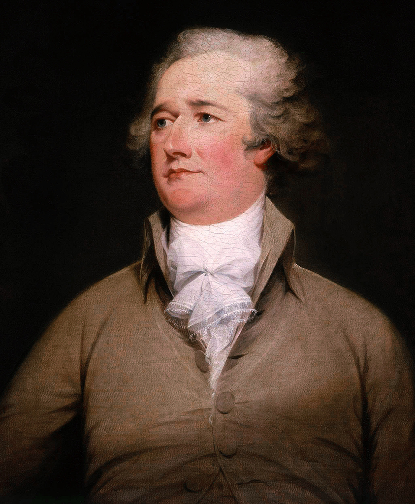 Portrait of an older Alexander Hamilton