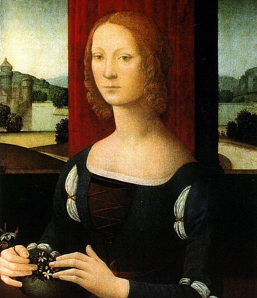 portrait of a younger Caterina Sforza