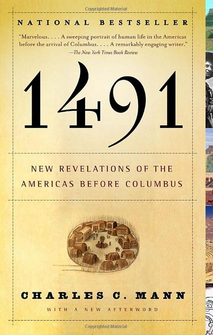 "cover of an American history book ""1491: New Revelations of the Americas Before Columbus"""