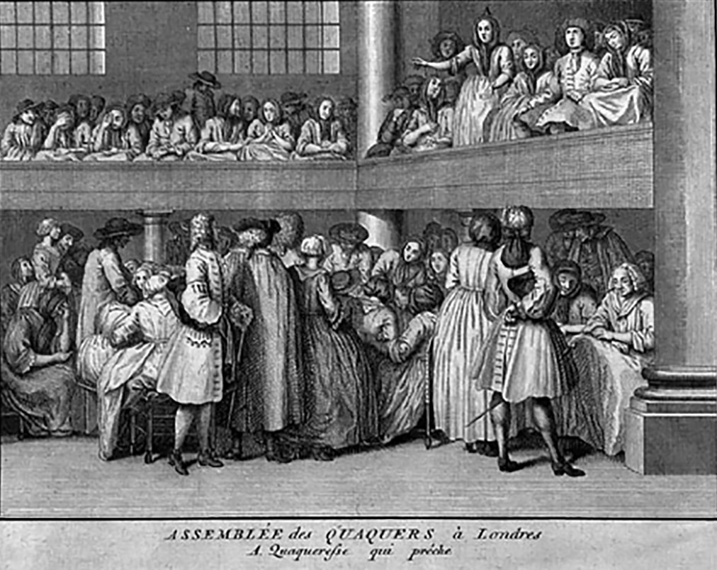 drawing depicting Assembly Of Quakers