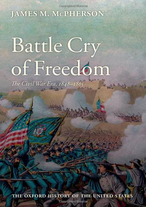 "cover of an American history book ""Battle Cry of Freedom: The Civil War Era"""