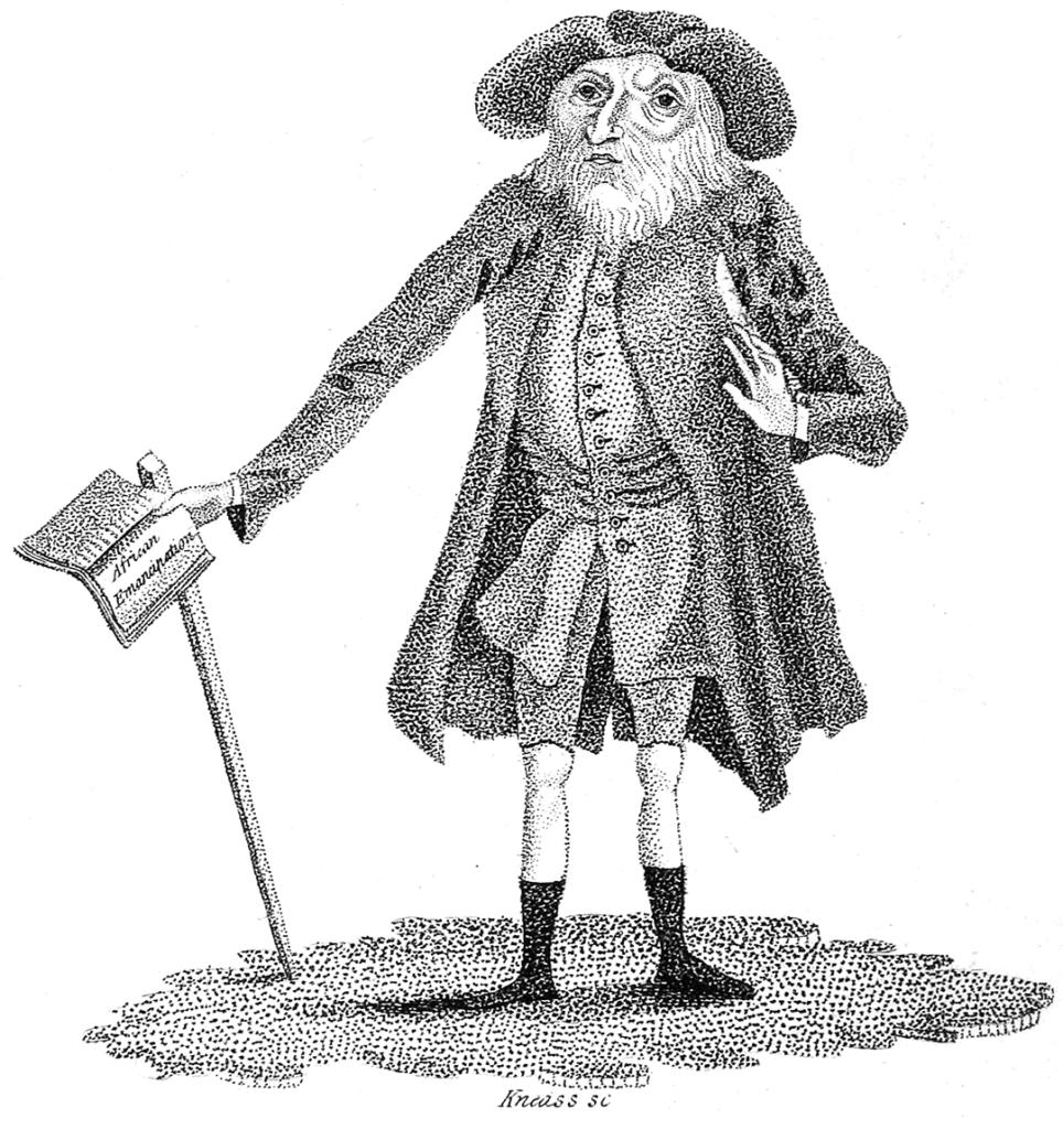drawing depicting Benjamin Lay