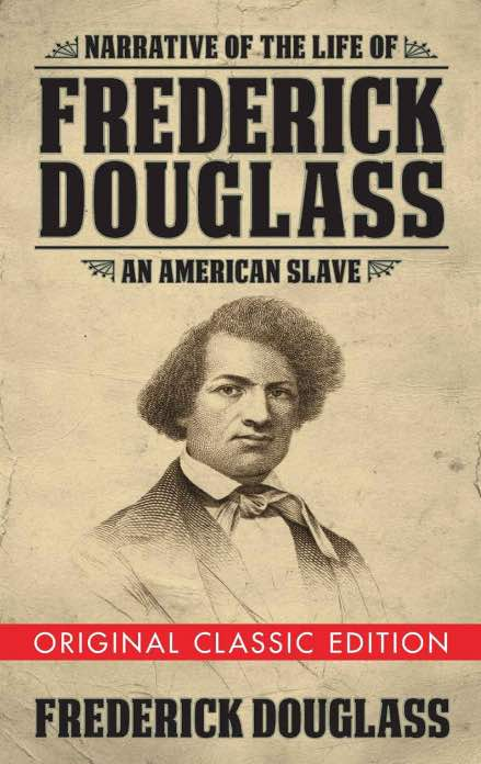 "cover of an American history book ""Narrative of the Life of Frederick Douglass"""