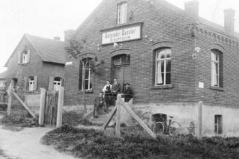 "The ""Dassler Brothers Sports Shoe Factory"" located near Herzogenaurach train station in 1928, for Adidas"