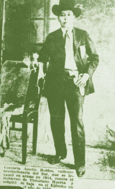 Amelia or Amelio Robles Avila, one of the soldaderas in the Revolutionary Army of the South