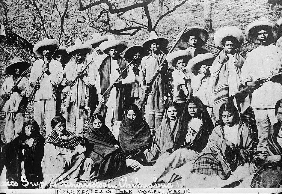 The revolutionaries and unarmed Adelitas