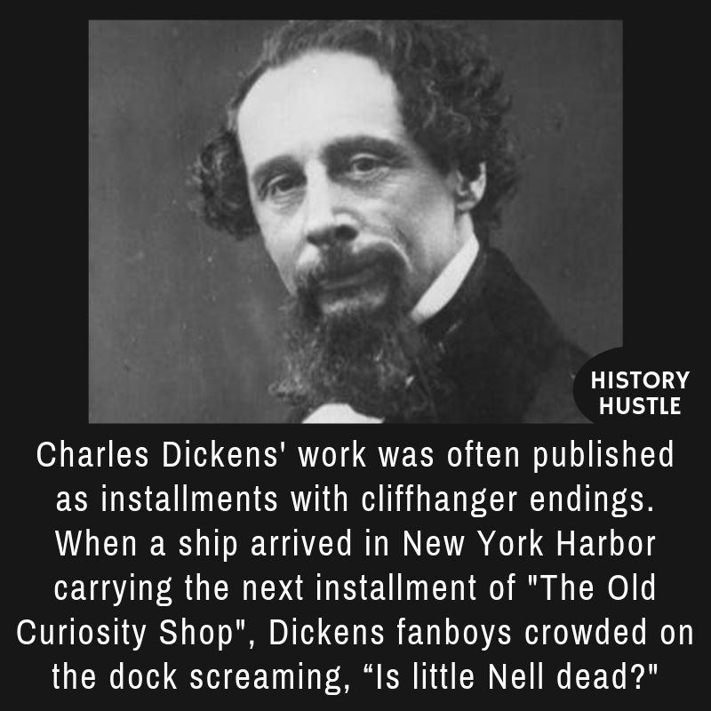 fact about Charles Dickens, one of the famous authors of his time