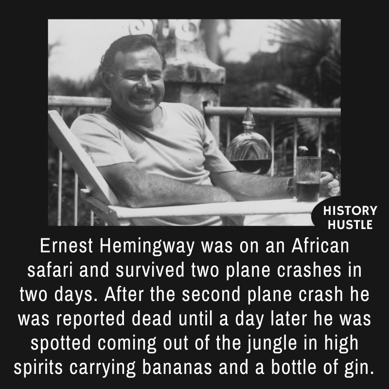 fact about Hemingway's plane accident