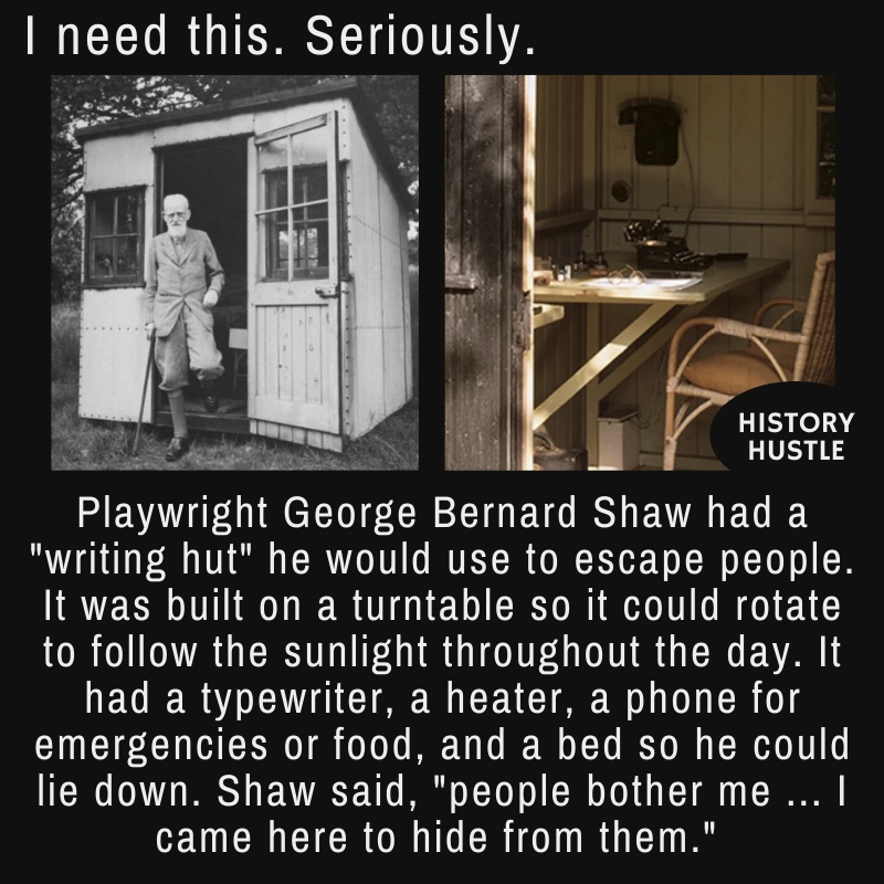 fact about George Bernard Shaw, one of the famous authors of his time